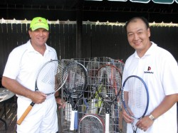 Johan Kriek with Bobby Choe, the CEO of Donnay USA