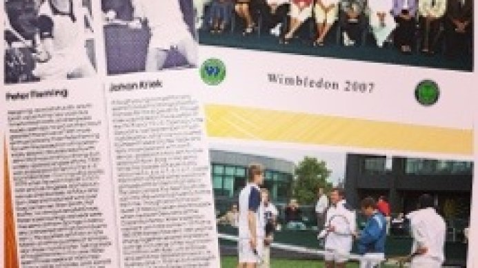 Good luck to Johan Kriek & Peter Fleming at Wimbledon