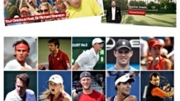 Johan Kriek joins Nadal, Becker, Edberg, Navratilova at the 2013 Necker Cup