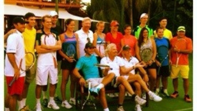Necker Cup 2013 Pro Players with Sir Richard Branson