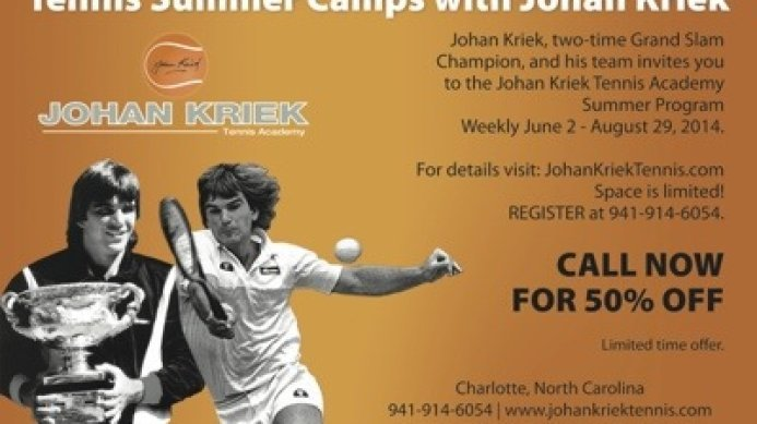 Johan Kriek in the South Charlotte Sports Report