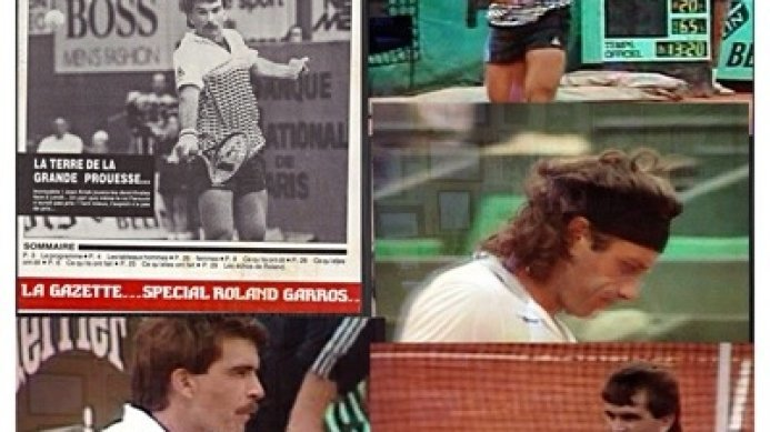 #tbt Roland Garros 1986 QF: Johan Kriek beats Vilas in 4 sets