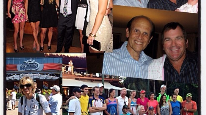 #tbt Johan & Daga Kriek at charity events around the US Open