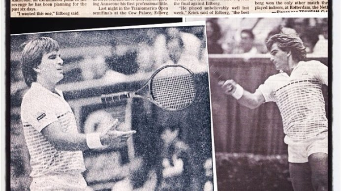 #tbt September 1985: Johan Kriek beats McEnroe to face Edberg in the final of San Francisco