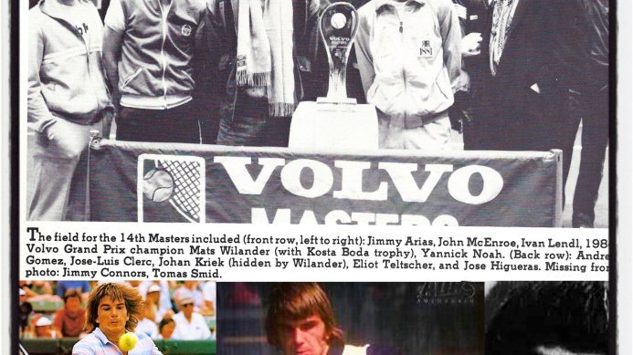 #tbt 1985 ATP Tour Master Event with Johan Kriek, John McEnroe and other tennis greats