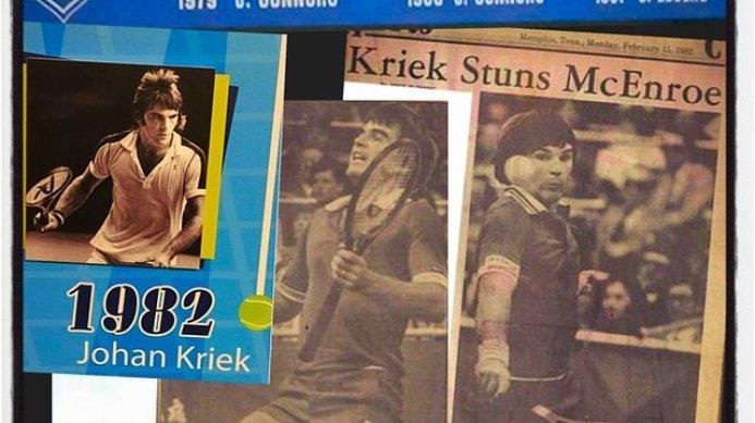 #tbt Memphis 1982: Johan Kriek Beats John McEnroe in the Final