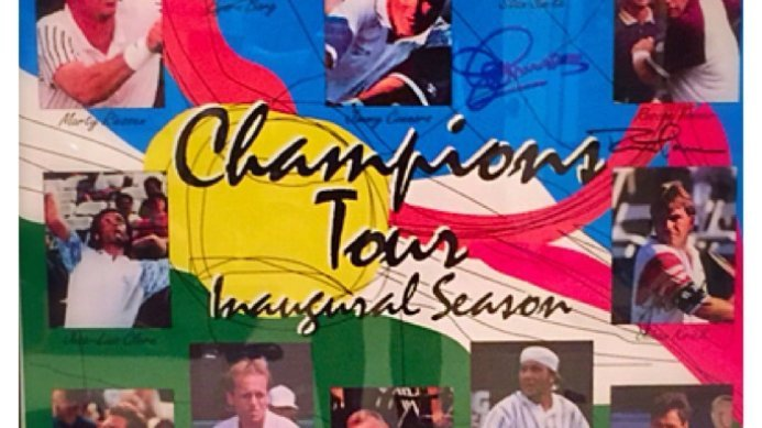 #tbt Johan Kriek & Other Tennis Greats featured on the Inaugural Champions Tour Season Poster