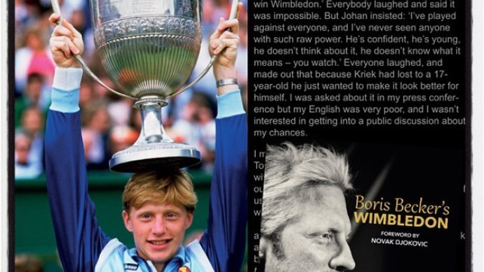 Boris Becker On Johan Kriek's Wimbledon Prediction 30 Years Ago