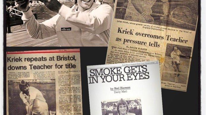 #tbt July 1984: Johan Kriek Defended His Title in Bristol