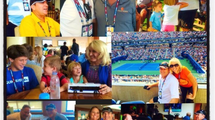 Johan & Daga Kriek and Kids Behind The Scenes at the US Open