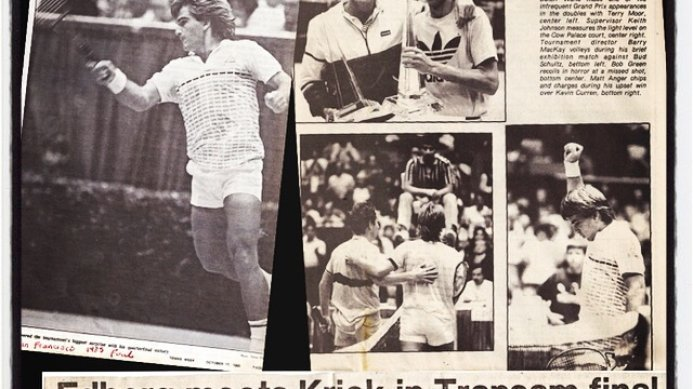 #tbt October 1985: Johan Kriek Beats McEnroe to Face Edberg in the Transam Final