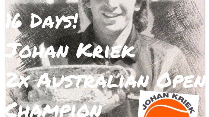 2016 Australian Open Countdown with two-time Champion Johan Kriek