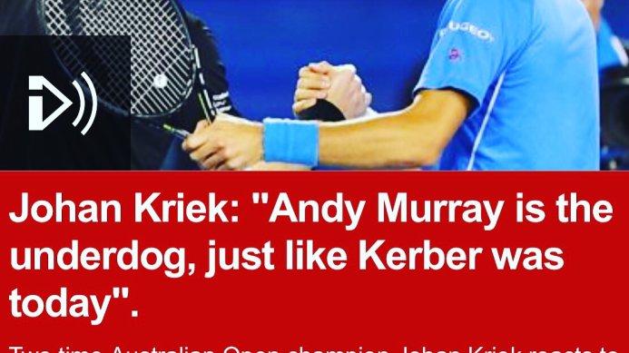 Johan Kriek on Kerber's Australian Open Win and Murray's Chances Against Djokovic