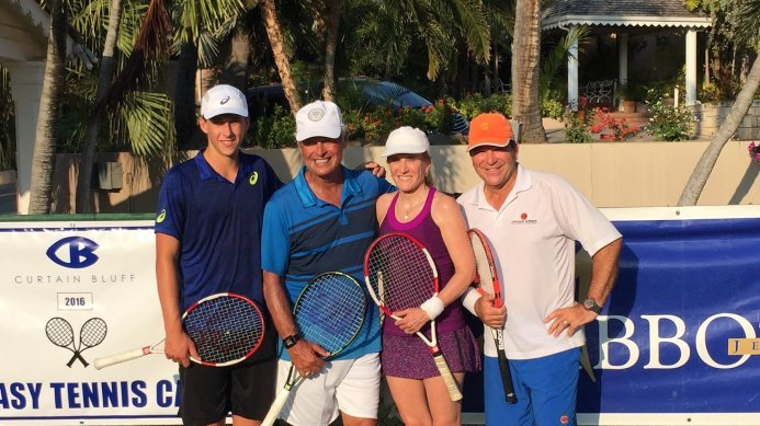 4th Annual Curtain Bluff Fantasy Tennis Camp with Kriek, Austin & Gullikson
