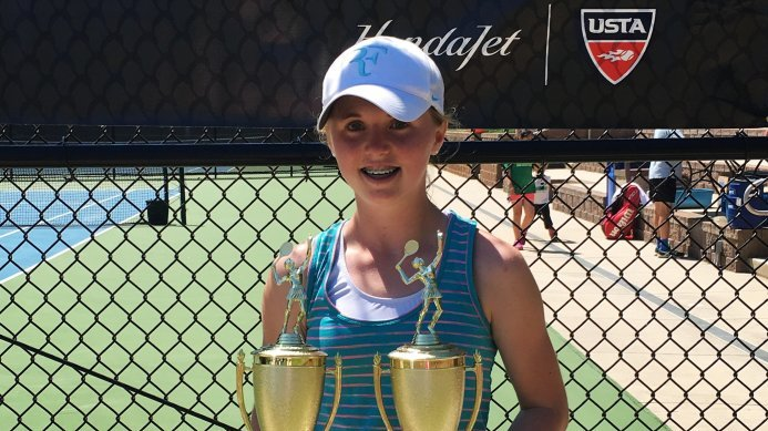 14-Year Old Jenna Thompson Wins Girls 18 North Carolina Singles & Doubles Championships