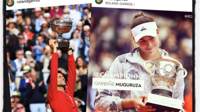 Congratulations to Novak Djokovic & Garbiñe Muguruza – Roland Garros