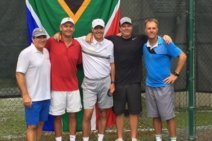 Johan Kriek Joins Oher South African Tennis Greats at The Country Club of Sapphire Valley Tennis Exhibition