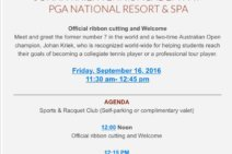 JKTA at PGA National Resort & Spa Grand Opening Event Will Feature Johan Kriek & John Isner