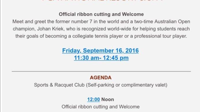 JKTA at PGA Grand Opening Feat. Johan Kriek & John Isner Coming up This Friday