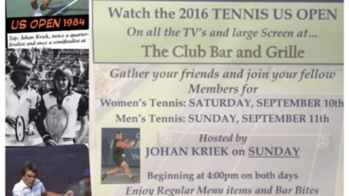 ?Watch The US Open Men's Final with Johan Kriek