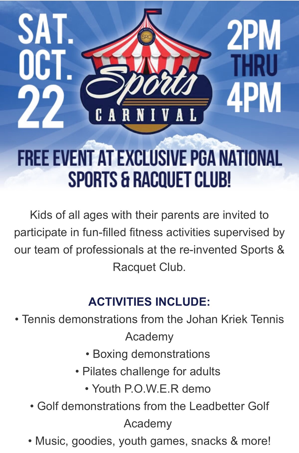 don t miss the sports carnival a fun free sports event at the