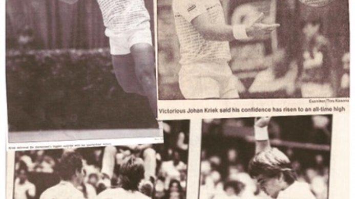 #tbt October 1985 Johan Kriek Upsets John McEnroe in San Francisco