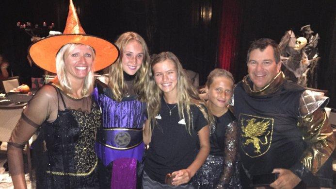 Johan & Daga Kriek with JKTA Players at a Halloween Party