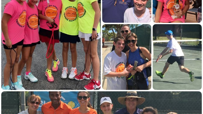 Johan Kriek and the JKTA Family At a Junior Tournament in Florida