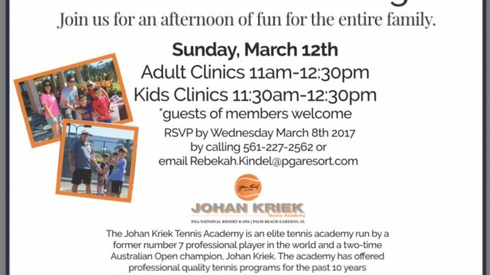 JKTA Adult Programs to Kick Off at the PGA National Resort and Spa on March 12th